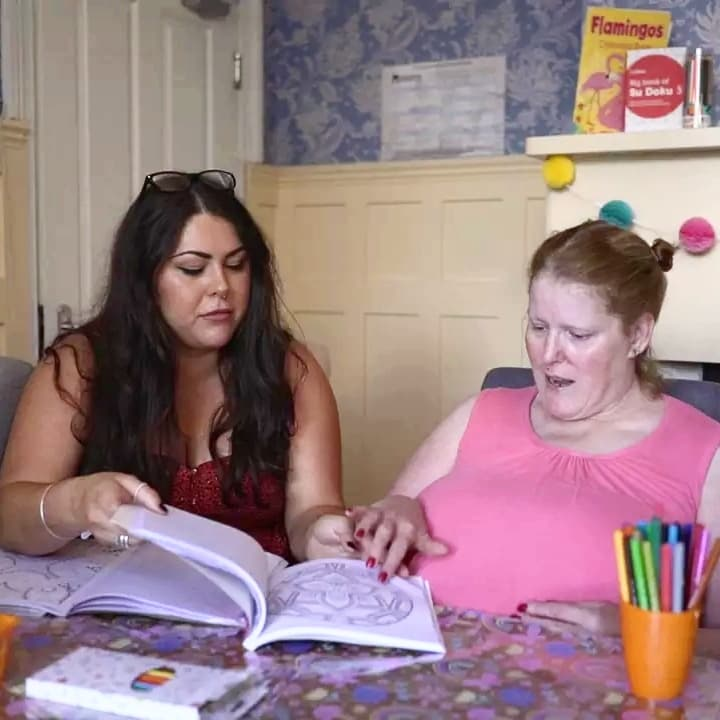 naomi- care-worker-bedfordshire-supported-housing-francis-house-art